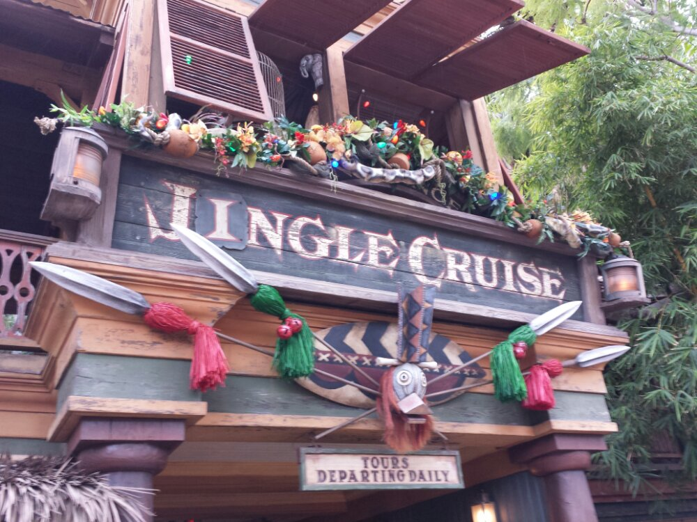 First stop, the Jingle Cruise #DisneyHolidays