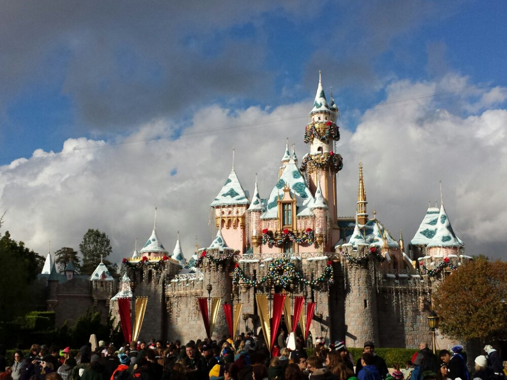 Sleeping Beauty Castle this afternoon, the clouds have broken up a bit