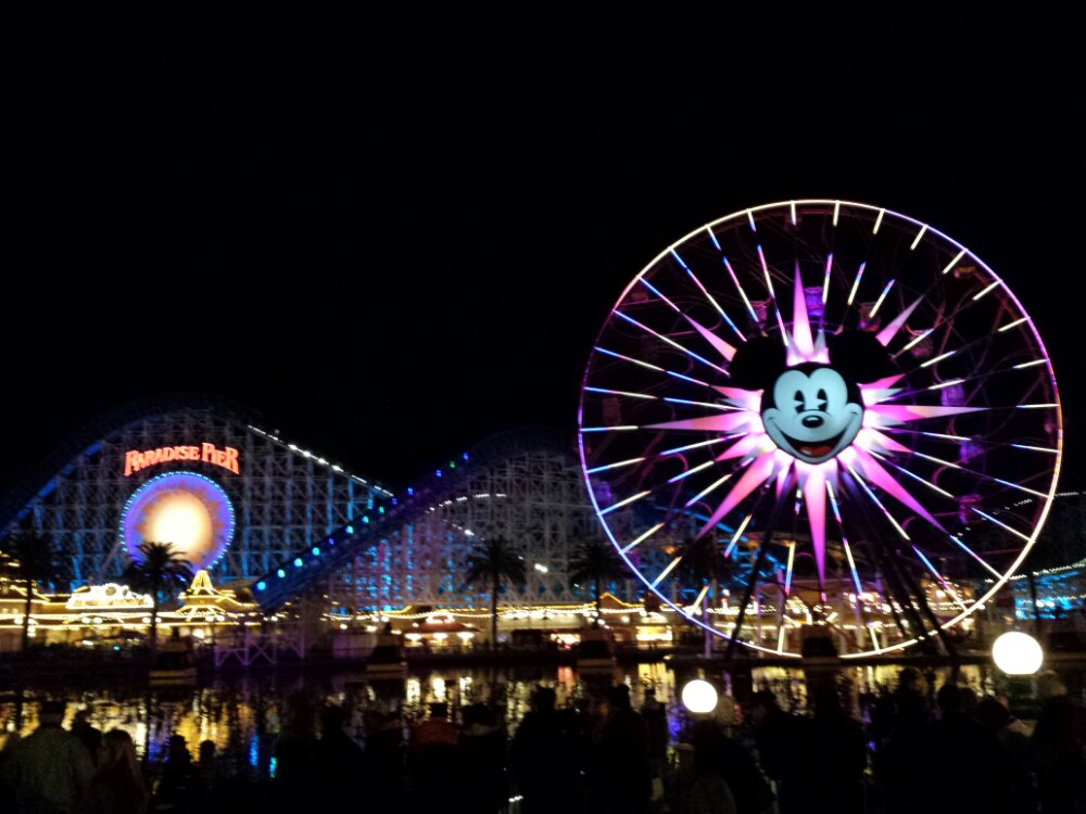 Waiting for World of Color Winter Dreams to wrap up my day