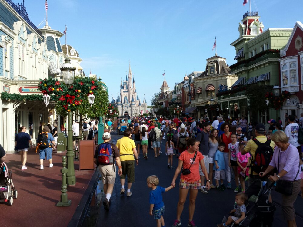 Main Street USA @ WDW this morning