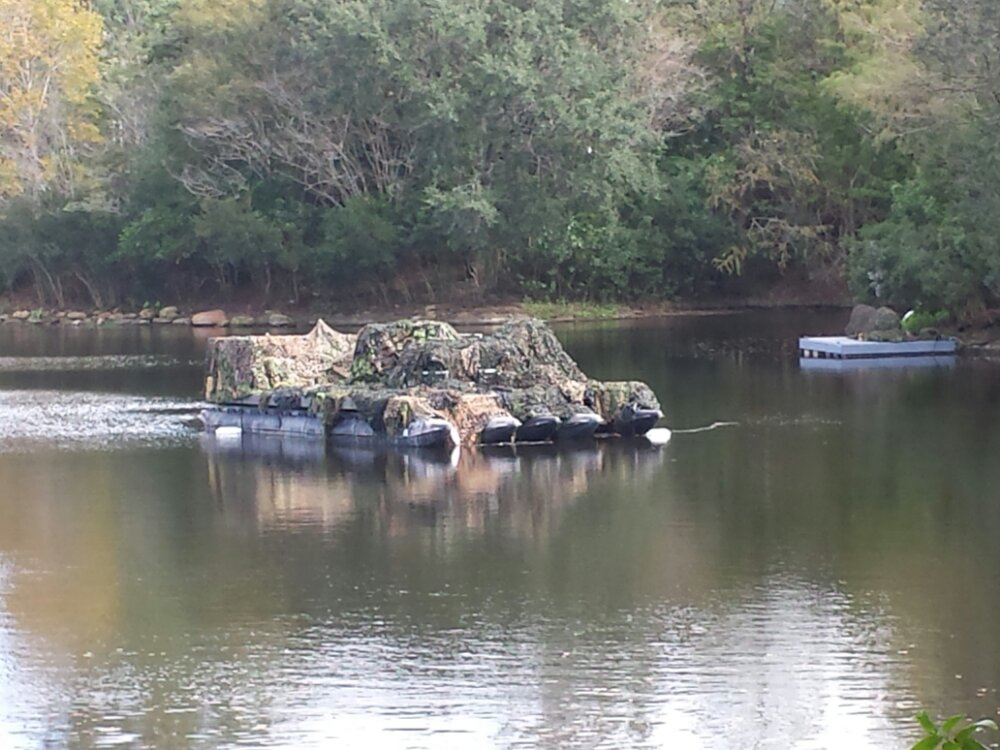 A better picture of the barge in the lagoon near Asia