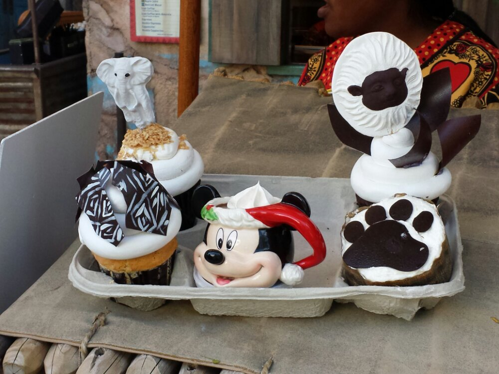 Some of the bakery choices at Kusafiri in Harambe