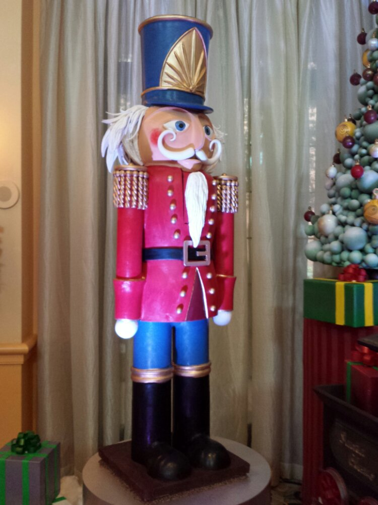 A chocolate nutcracker at the Swan