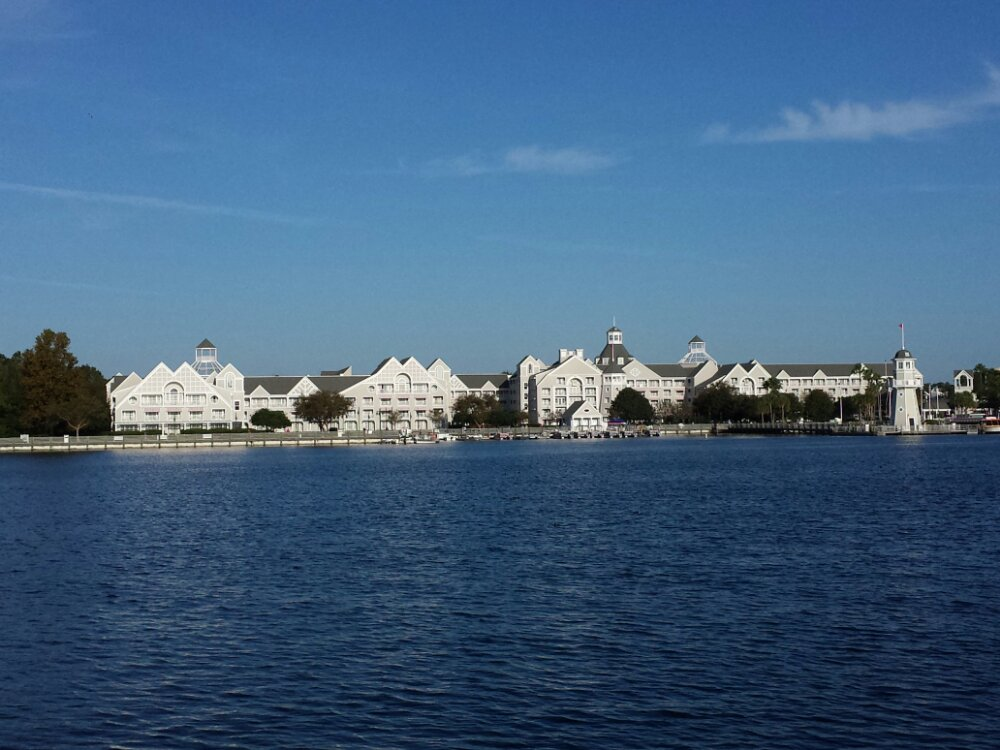 A look at the Yacht Club across the Lake as I head for Epcot to start my day