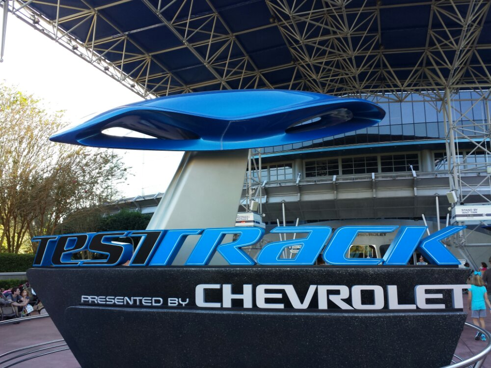 First attraction this morning Test Track #Epcot