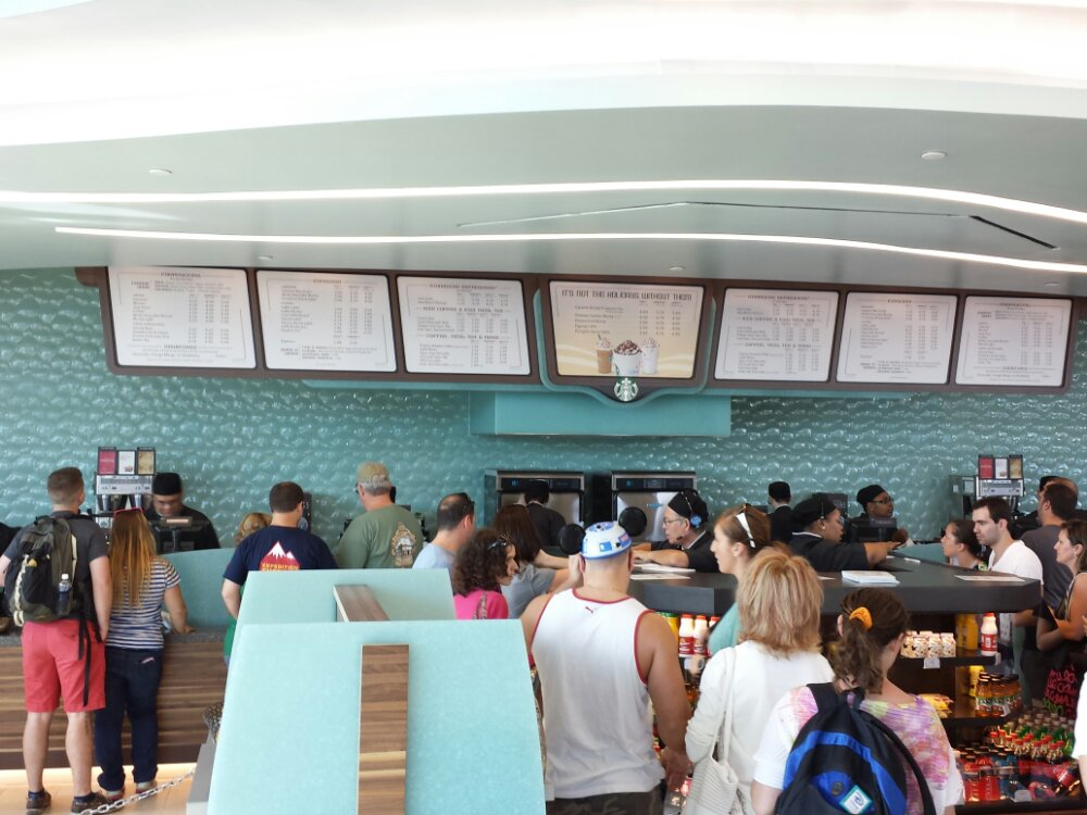 Inside it is rather plain, most of the space is the queue or waiting area for your order.  No seating.