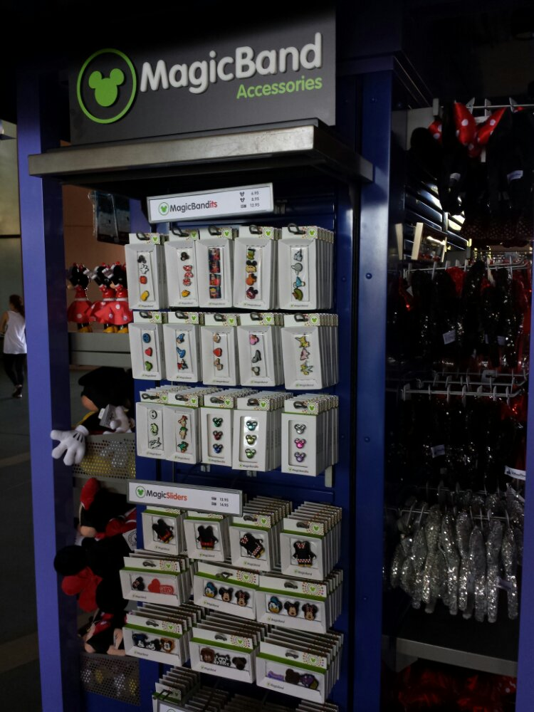 Plenty of MagicBand accessories at stores and kiosks around the parks.