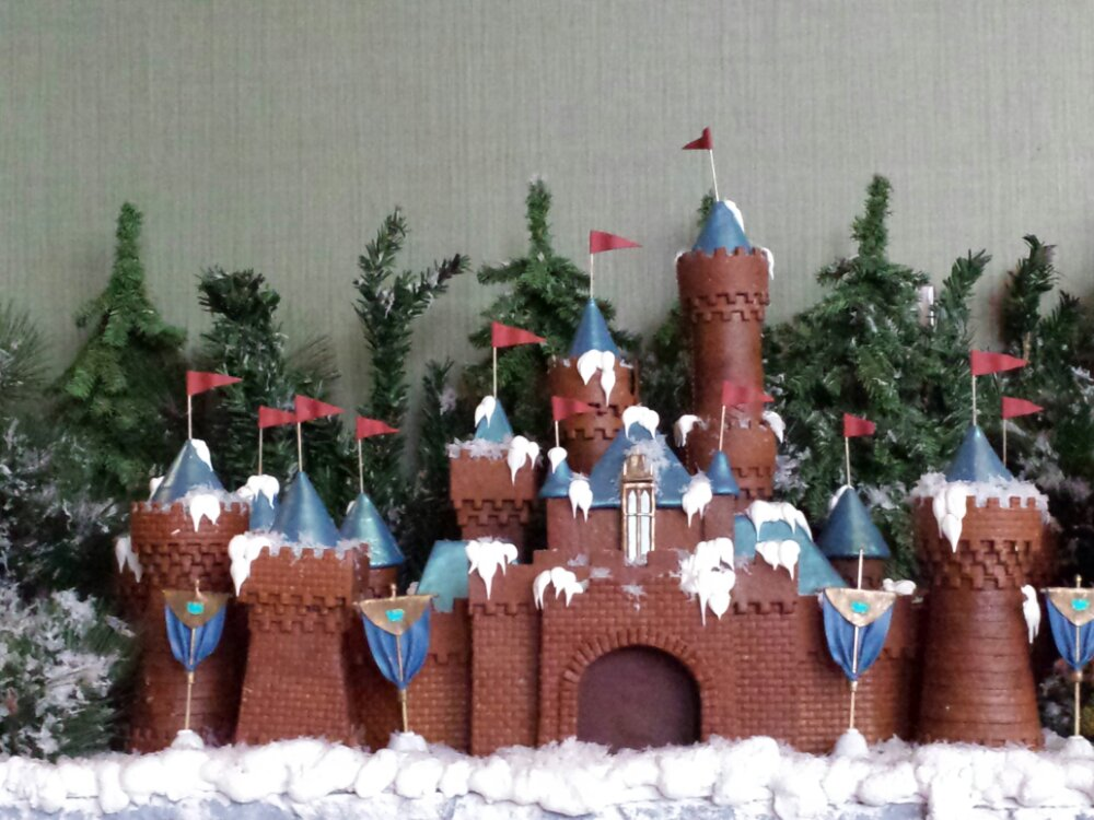 Gingerbread Sleeping Beauty Castle from Disneyland at the Land