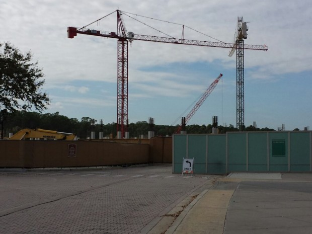 The new Disney Springs parking structure is going vertical