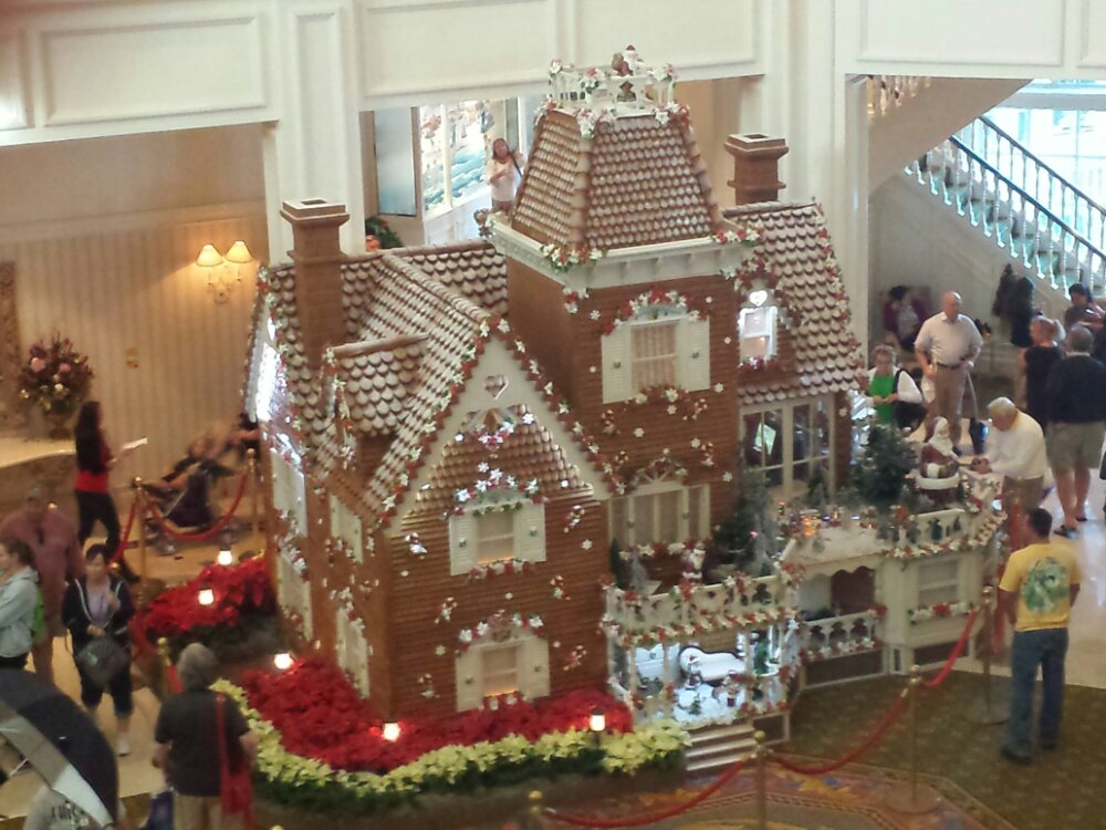 The Grand Floridian Gingerbread house celebrating 15 years this year