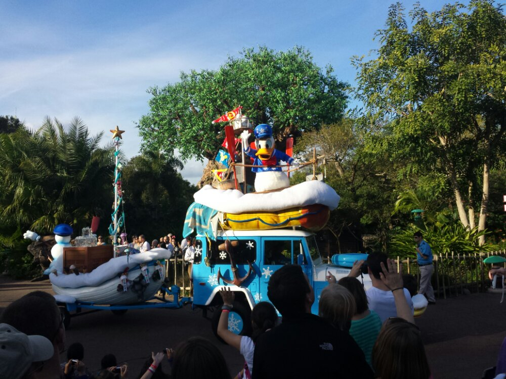 Donald in the Jingle Jungle Parade