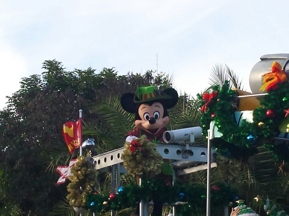 Mickey to close out the Jingle Jungle Parade