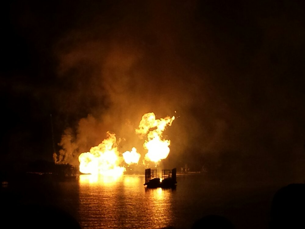Closing out the evening at #Epcot with #Illuminations – inferno barge