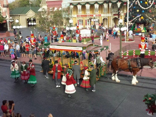 The Main Street Trolley Show going on as we boarded the train