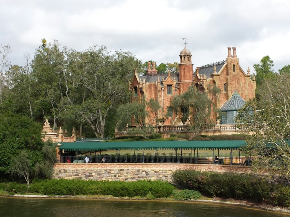 Haunted Mansion from the Rivers of America #WDW