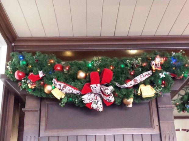 Christmas Garland in the Main Street Firehouse