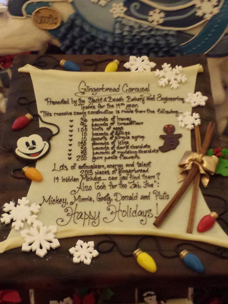 Some facts and figures on the Beach Club Lobby gingerbread display