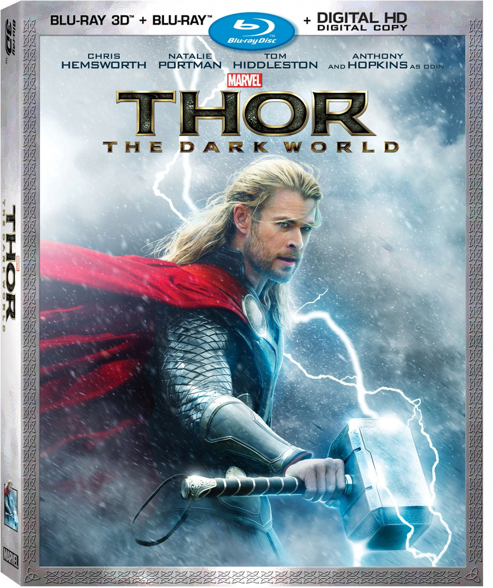 Marvel's Thor: The Dark World on 3D Blu-ray, 2D Blu-ray, Digital Copy – February 25th, 2014