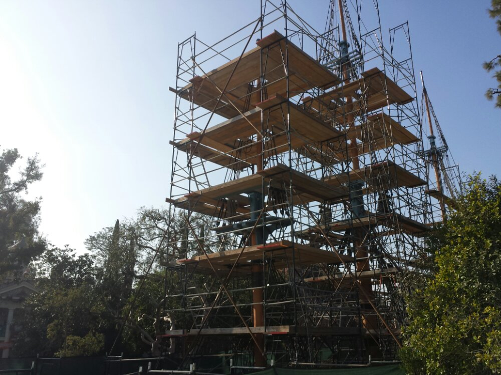 A different angle of the Columbia scaffolding from the Mark Twain