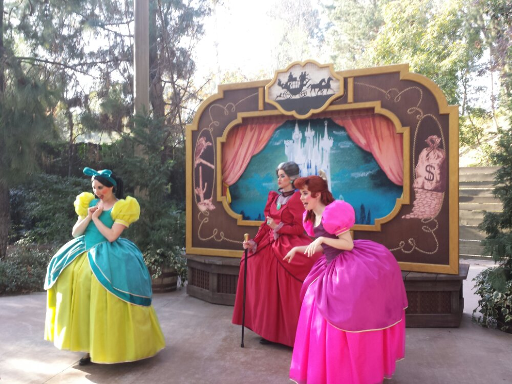 Cinderella's Step family was also part of the Frontierland Troupe