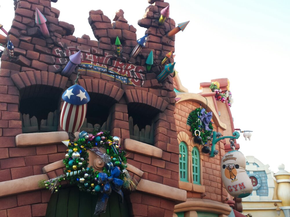 Toontown is still decorated today for those still wanting Christmas
