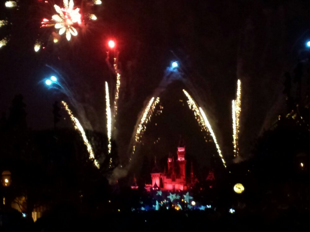 Closing out my evening at #Disneyland with Remember Dreams Come True