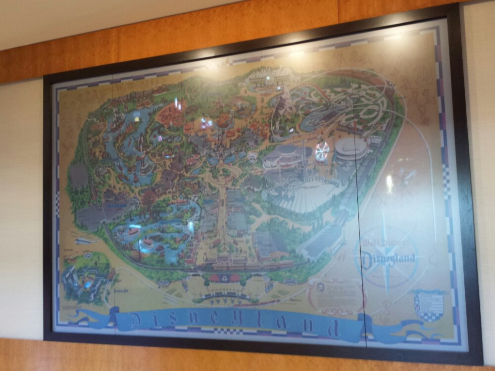 Walking through the Disneyland Hotel first today.  The large Disneyland map as you enter the lobby.
