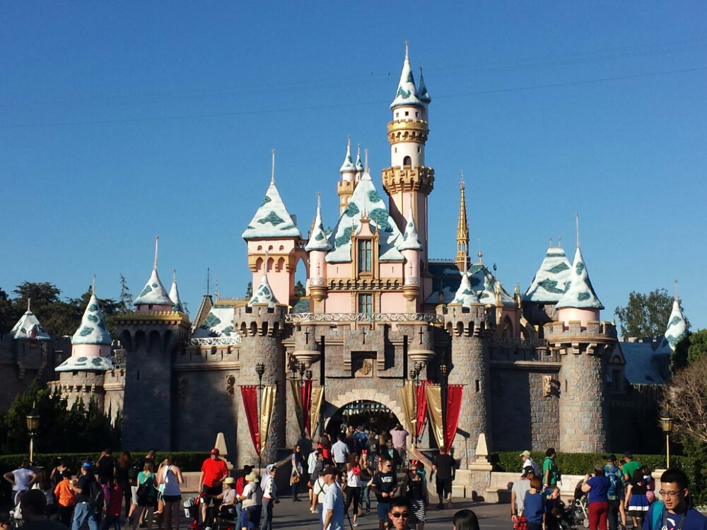 Sleeping Beauty Castle this afternoon
