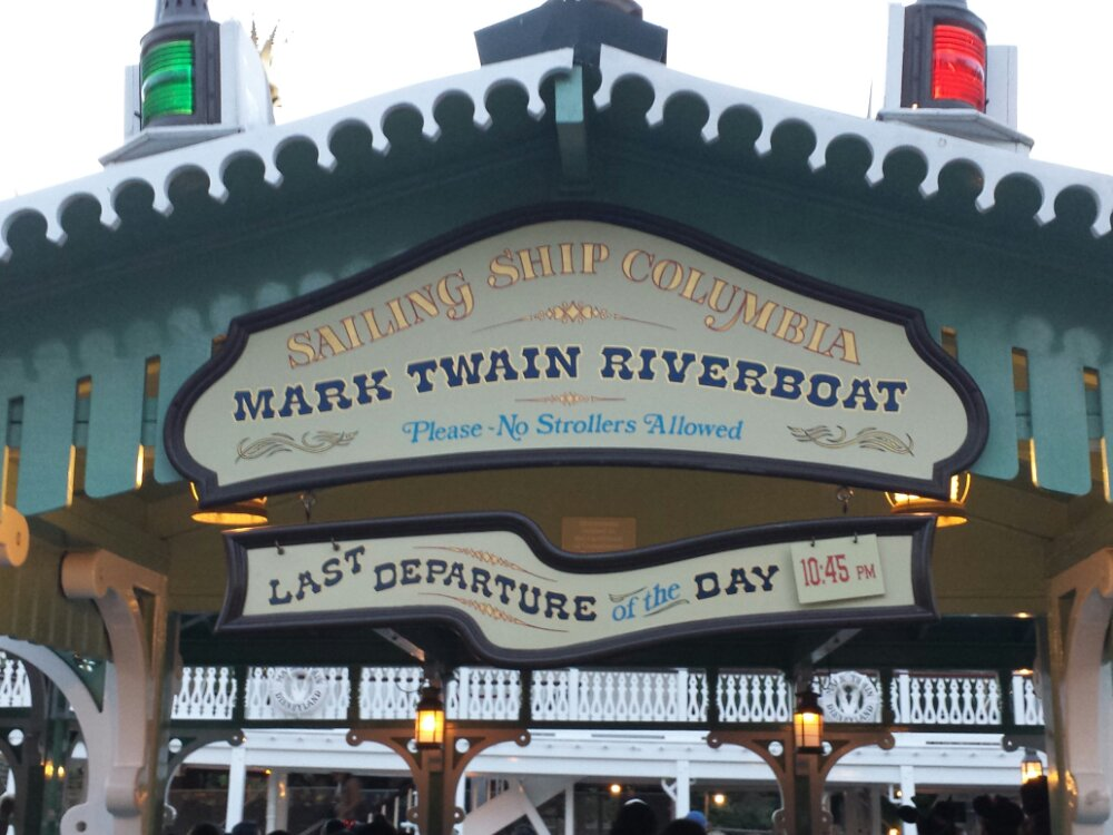 A reminder, with Fantasmic not being performed the Mark Twain stays open later some nights.  Today's last cruise is 10:45pm