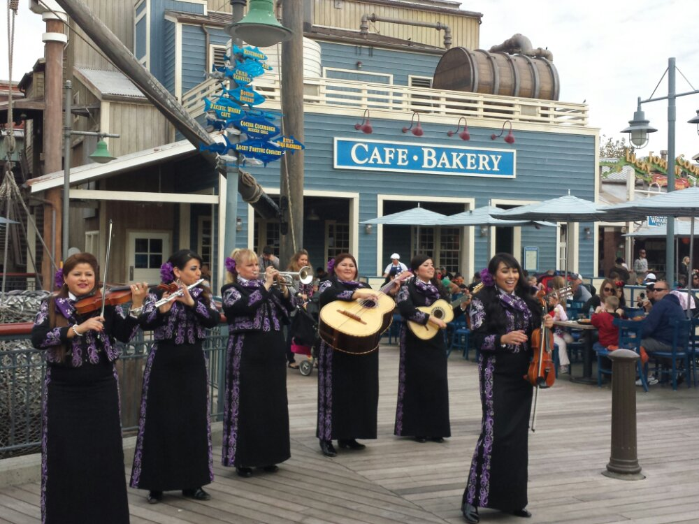 The Mariachi Divas performing on the Pacific Wharf