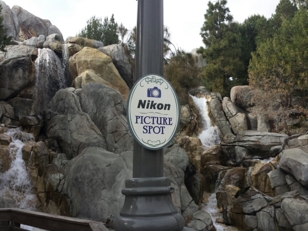 Nikon picture spot signs are up around the parks