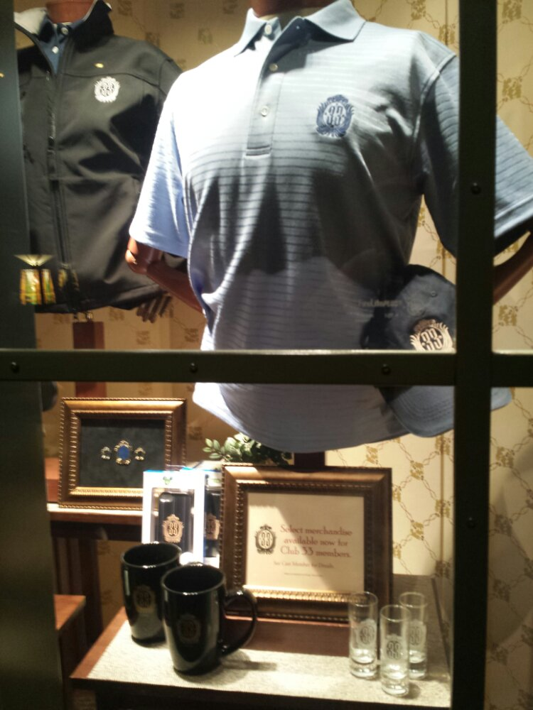 With Club 33 closed they have the member merchandise in the Grand Californian