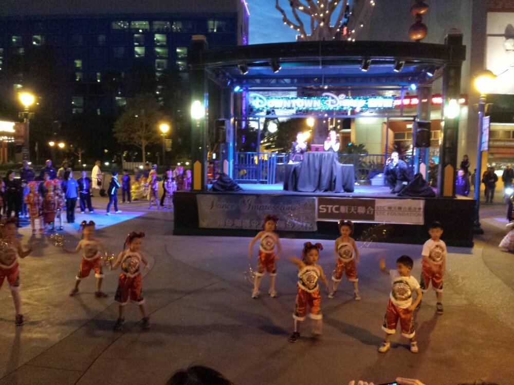 Several groups of children performed, here is the youngest group