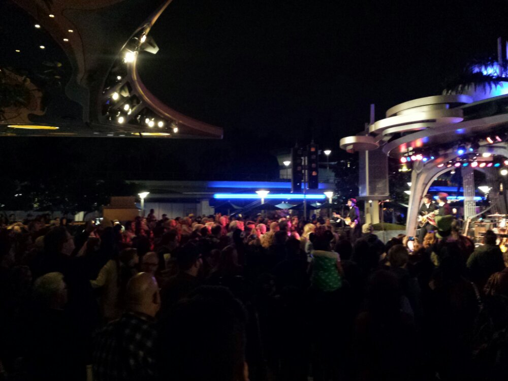 Not much room on the dance floor tonight, Hard Day's Night has drawn a good crowd at Tomorrowland Terrace