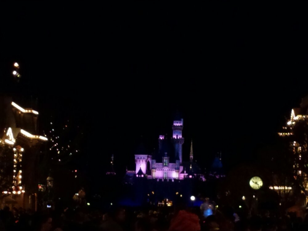 Waiting for Remember Dreams Come True #Disneyland #fireworks