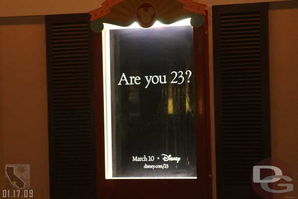 Are you 23? Poster at Disneyland