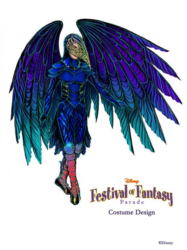 A Sneak Peek at Disney Festival of Fantasy Parade Costumes: Raven Design Sketch