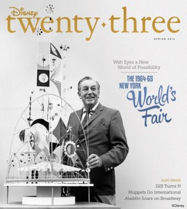 Disney twenty-three Spring 2014 cover