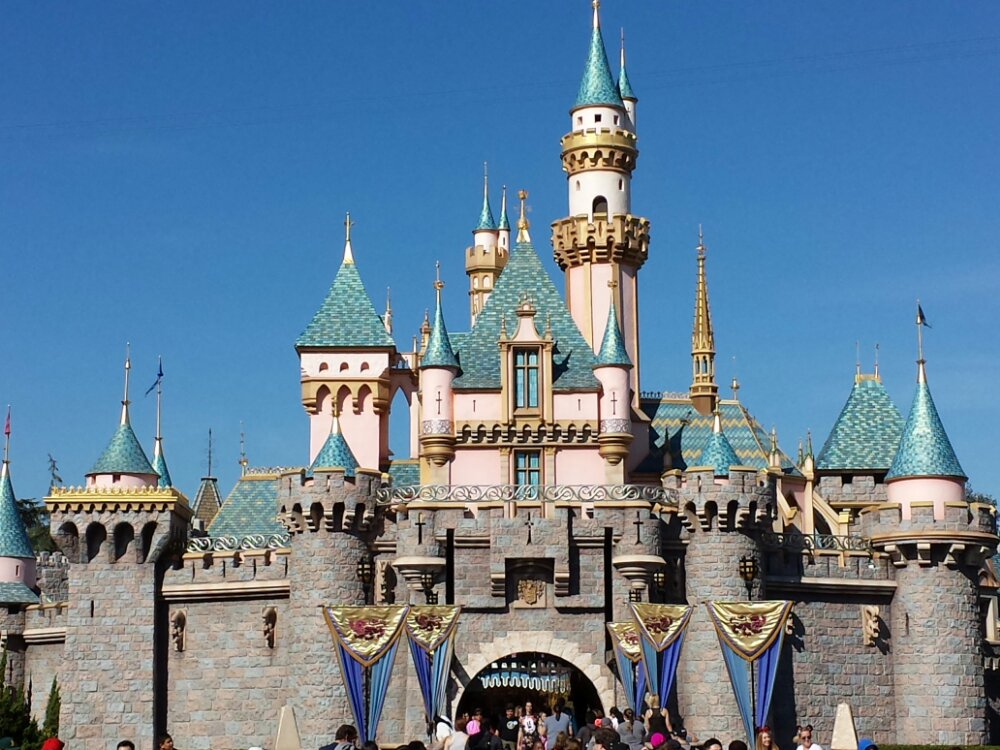 Sleeping Beauty Castle this picture perfect afternoon
