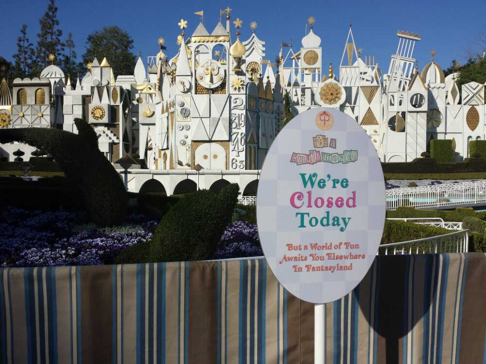 It's a Small World remains closed for rennovation
