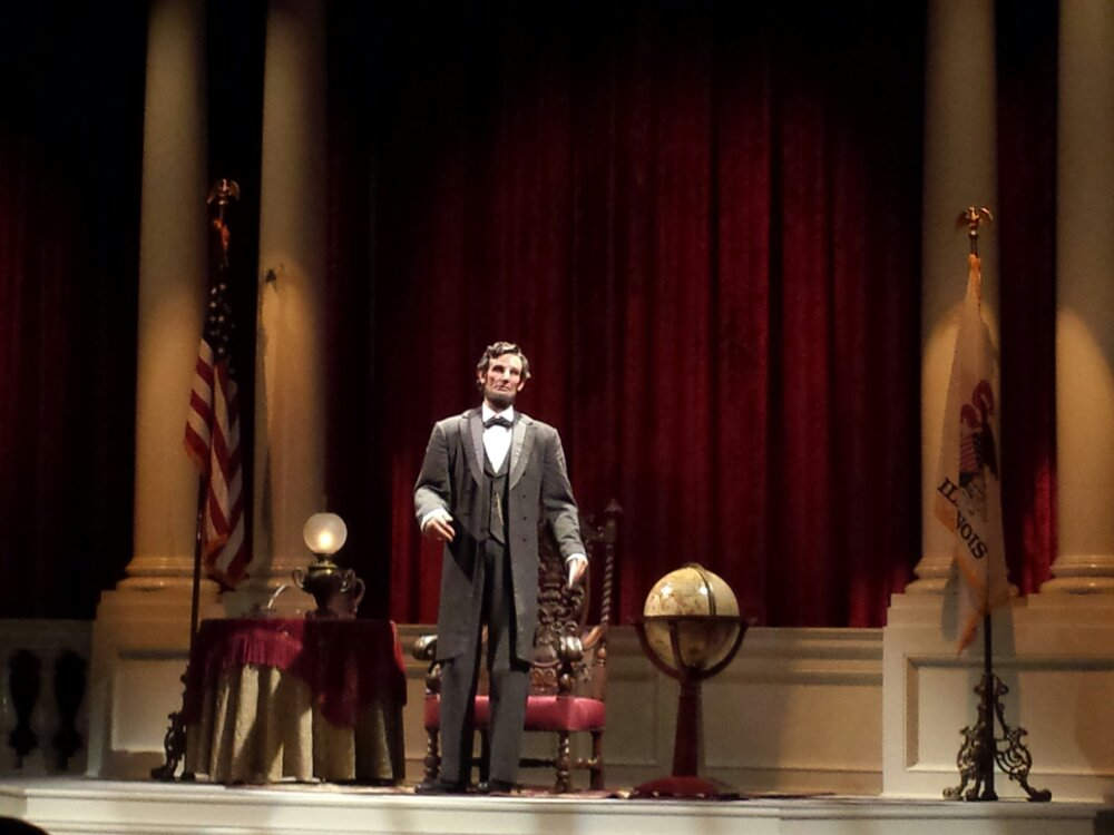 To celebrate president's day & Lincoln's birthday took in a showing of Great Moments with Mr. Lincoln