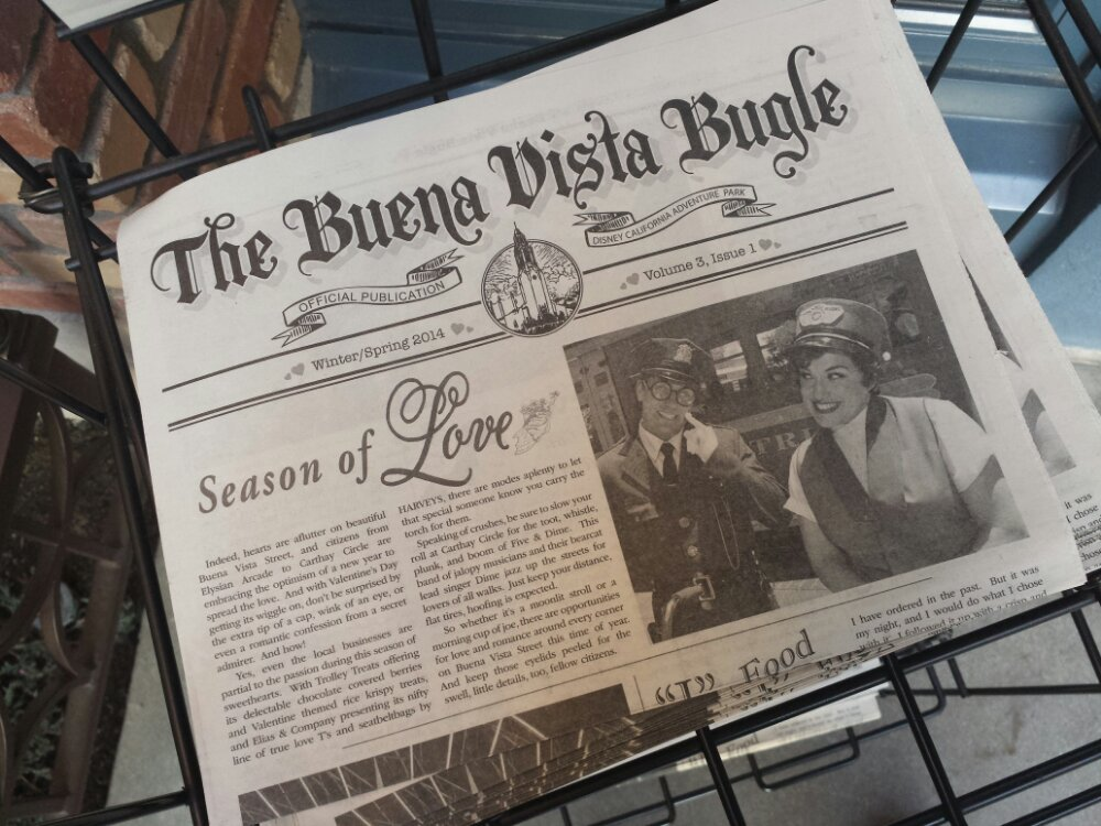 New Winter/Spring Buena Vista Bugles are now on news stands on #BuenaVistaStreet