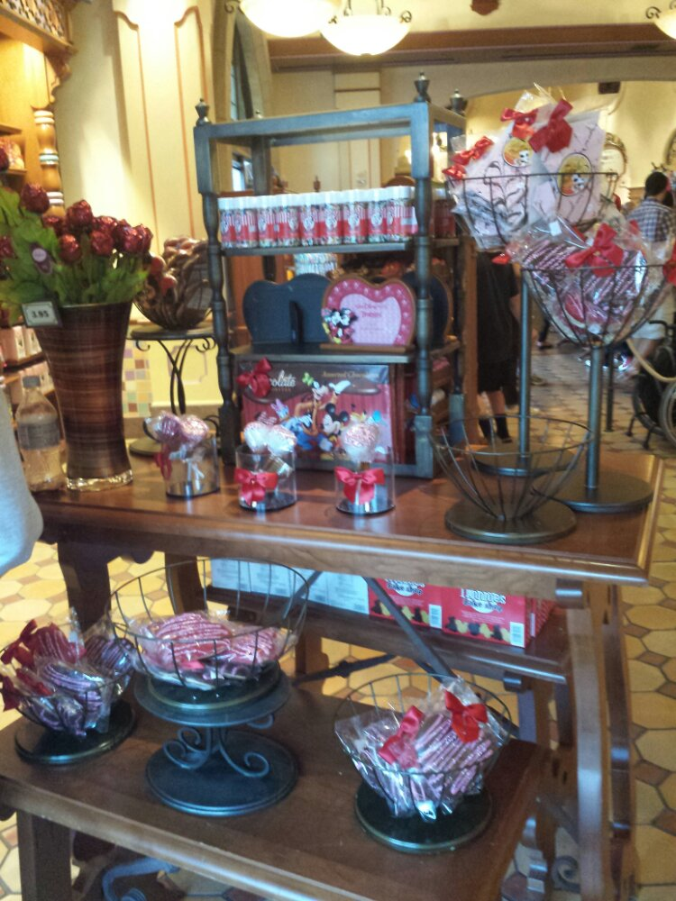 As you enter Trolley Treats a selection of Valentine's Day items
