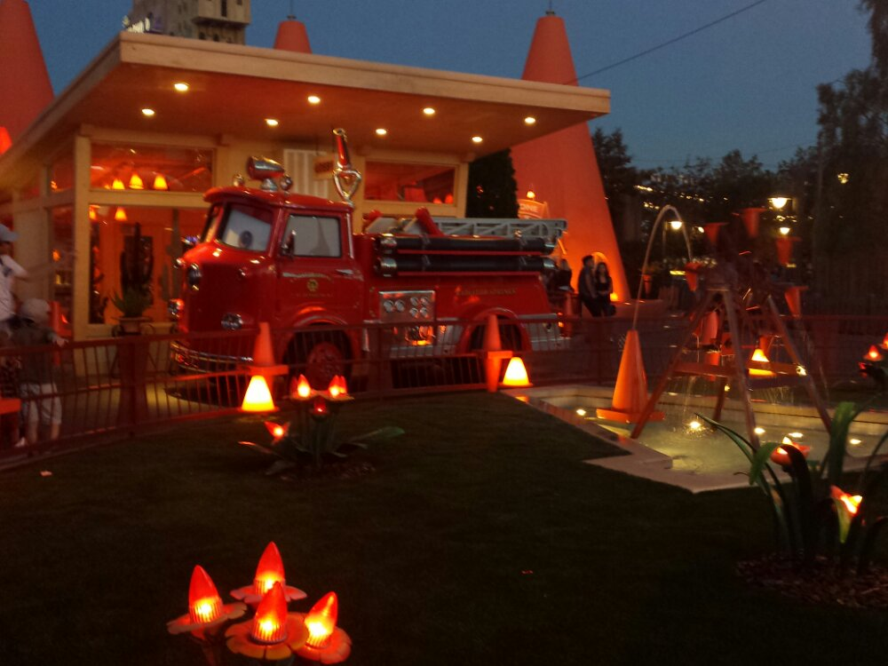 Red at the Cozy Cone #CarsLand. I do not remember ever seeing him there before
