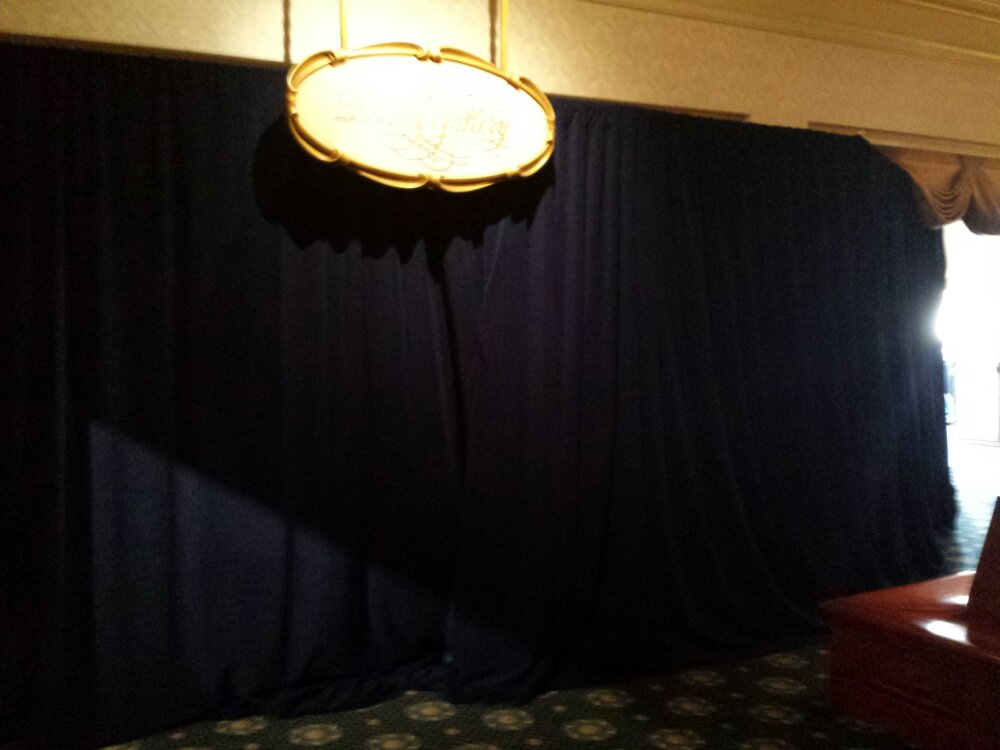 The rest of the Disney Gallery area is behind a curtain till tomorrow