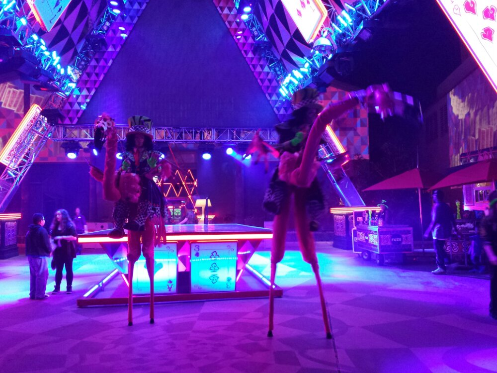 Flamingos by the House of Cards stage #MadTParty