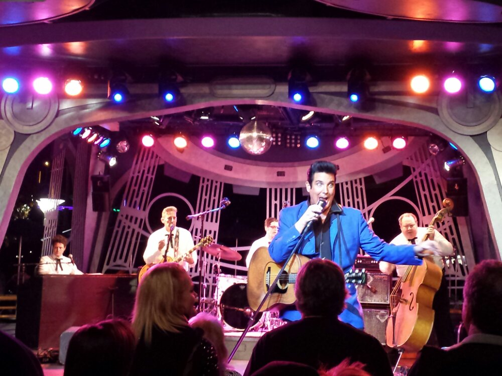 Elvis, Scot Bruce at the Tomorrowland Terrace