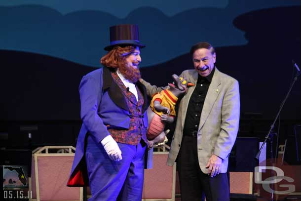 Dream Finder, Figment, & Richard Sherman at D23 Destination D: WDW 40th Anniversary