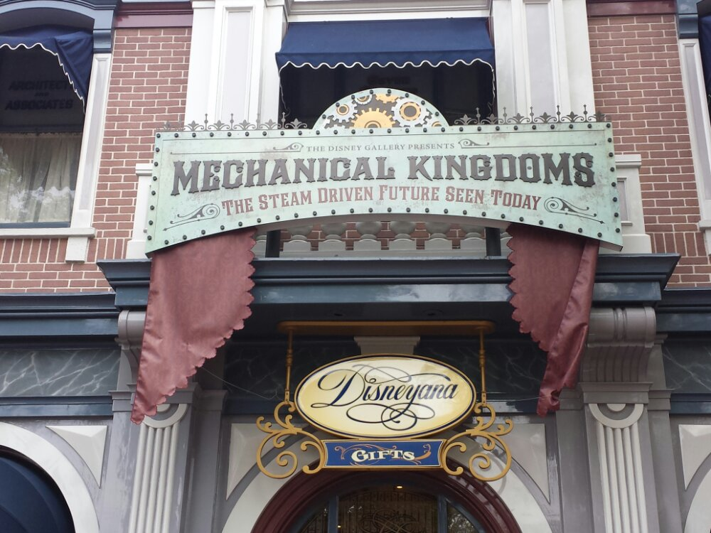 The current Disney Gallery exhibit Mechanical Kingdoms opened since my last visit