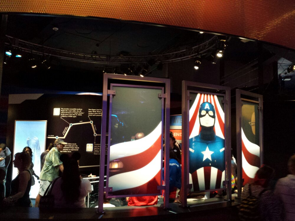 Captain America the Living Legend & Symbol of Courage is open @ Innoventions. The wait is over an hour this afternoon.